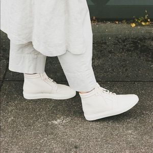 Nisolo Reina High Top Sneaker Bone 7 1/2